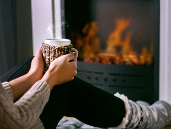 Casa con sistema de calefacción portátil