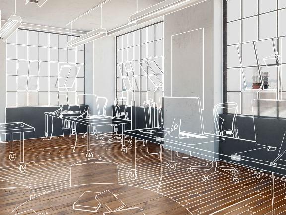Optimización del espacio en oficina pequeña