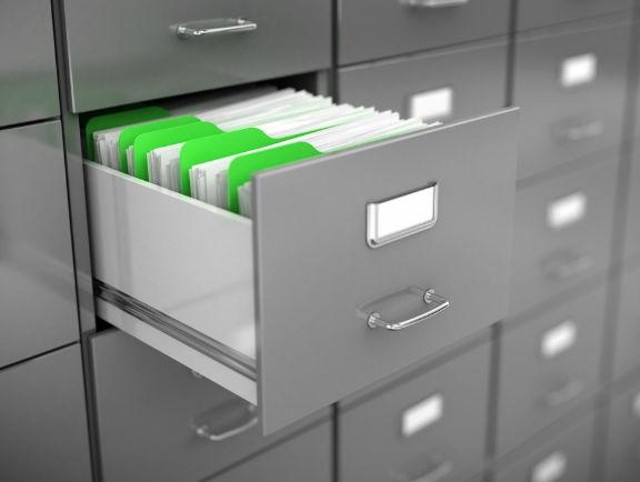 Casilleros para ordenar archivos