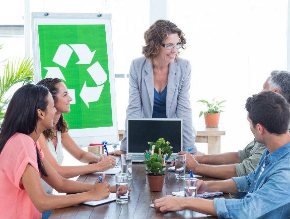 Reciclaje en los ambientes labores.