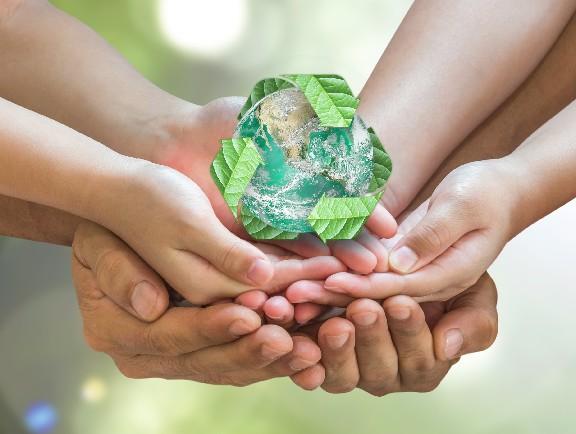 símbolo de cuidado al medio ambiente