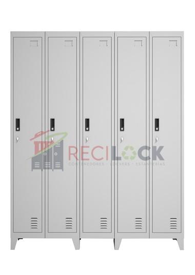 Lockers Metálicos: 5 Cuerpos y 5 Puertas
