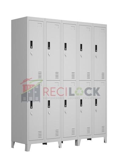 Lockers Metálicos: 5 Cuerpos y 10 Puertas