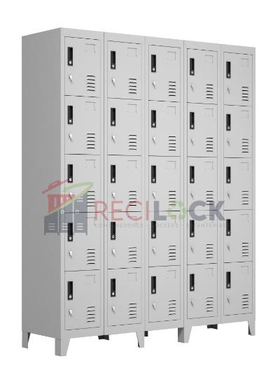 Lockers Metálicos: 5 Cuerpos y 25 Puertas
