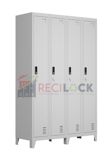 Lockers Metálicos: 4 Cuerpos y 4 Puertas