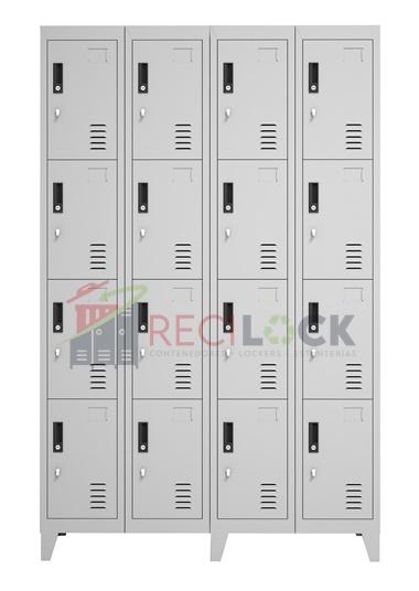 Lockers Metálicos: 4 Cuerpos y 16 Puertas