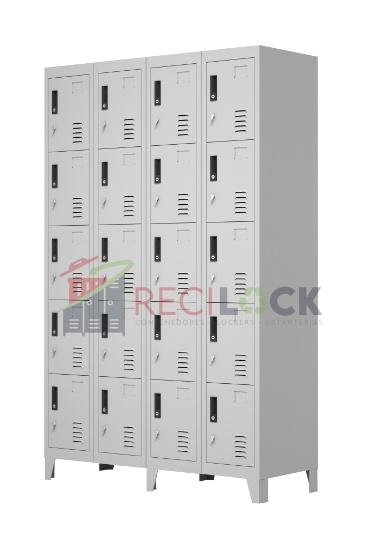 Lockers Metálicos: 4 Cuerpos y 20 Puertas