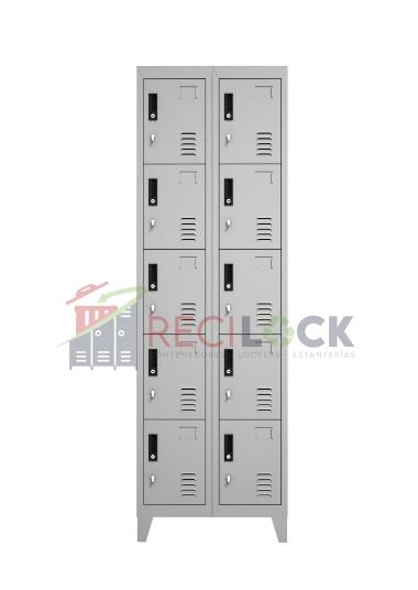 Lockers Metálicos: 2 Cuerpos y 10 Puertas