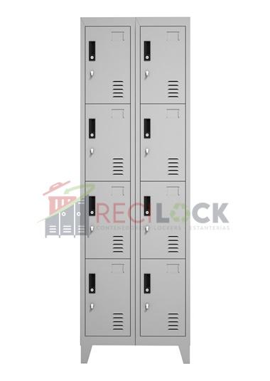 Lockers Metálicos: 2 Cuerpos y 8 Puertas