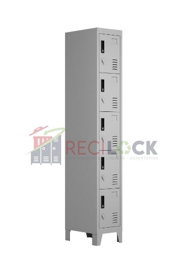 Lockers Metálicos: 1 Cuerpo y 5 Puertas