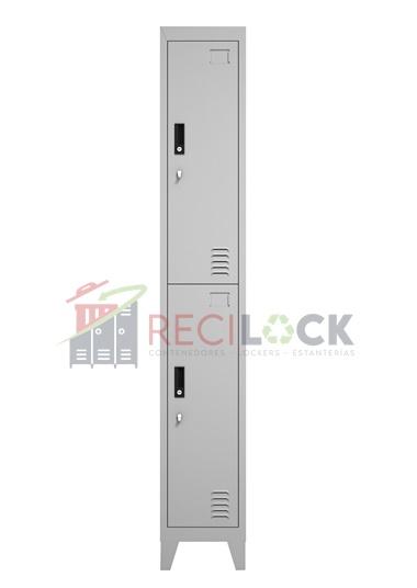 Lockers Metálicos: 1 Cuerpo y 2 Puertas