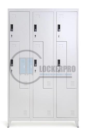 Locker: 3 cuerpos, 6 puertas L