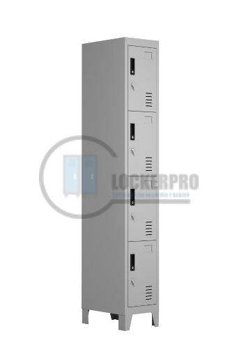 Lockers Metálicos: 1 Cuerpo y 4 Puertas