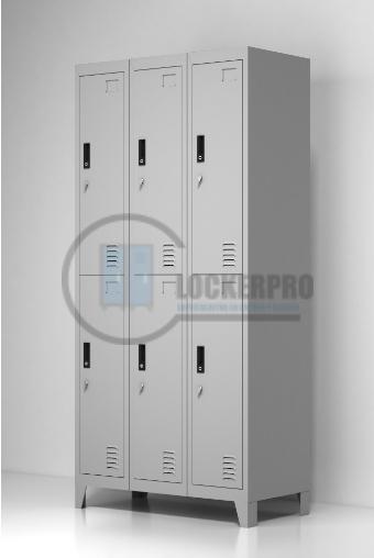 Lockers Metálicos: 3 Cuerpos y 6 Puertas