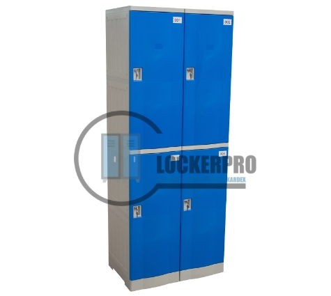 Lockers Plásticos: 2 Cuerpos y 4 Puertas