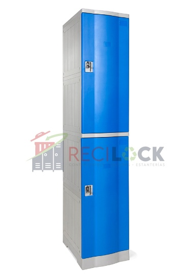 Lockers Plásticos: 1 Cuerpos y 2 Puertas