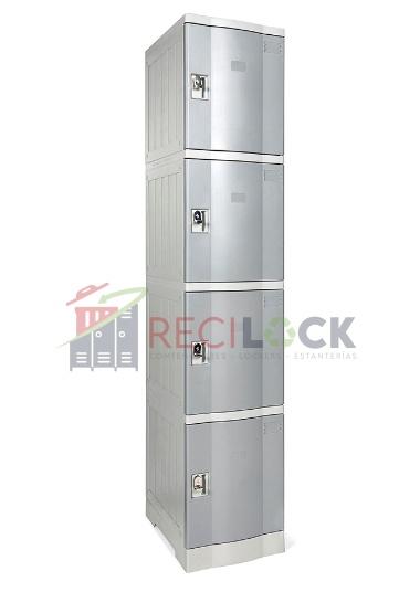 Lockers Plásticos: 1 Cuerpos y 4 Puertas